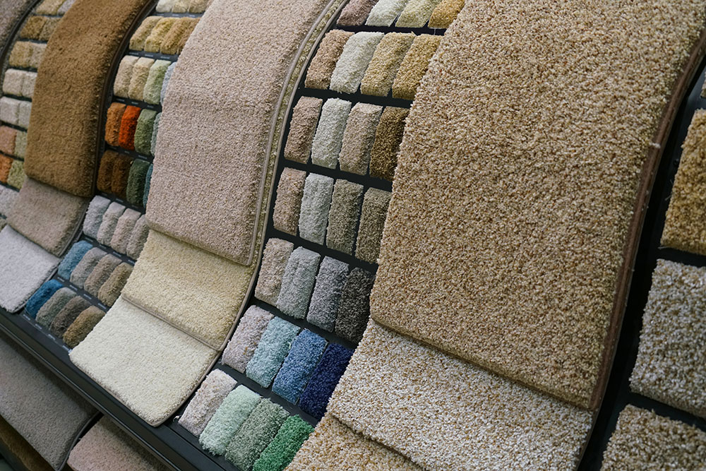 carpet samples in store